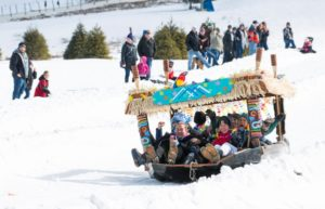 Cardboard Box Derby beats the snow